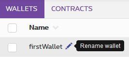 Rename a wallet